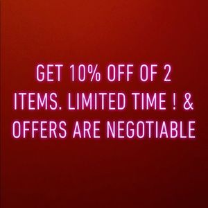 10% off 2 items !  Shop now